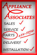 Appliance Assocites Sales Service Parts Delivery Installation 512-454-5896