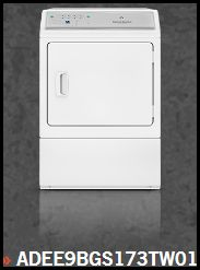 Adee9bgs173tw01 Front Controls 27 Quot Electric Dryer With 7 0