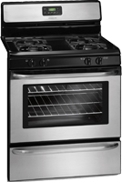 "FFGF3047LS FRIGIDAIRE 30"" Freestanding Gas Range with 4 Sealed Burners, Low-Simmer Burner, 4.2 cu. ft. Oven Capacity, Manual Clean Oven, Ready-Select Controls and Broiler Drawer   Appliance Associadtes 814 Romeria Drive, Austin, TX 78757, 512-454-5896"